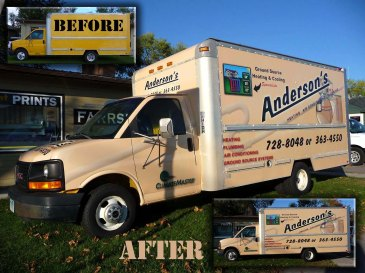 Anderson's Truck Before and After