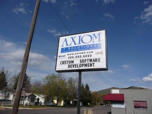 Axiom Pole sign