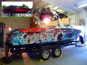 Mastercraft Boat Before and After