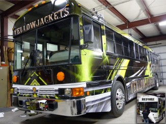 Yellowjackets Bus Before and After